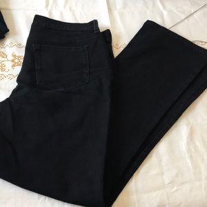 Black denim jeans